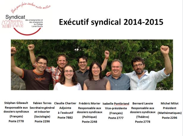 14-15 Exécutif syndical