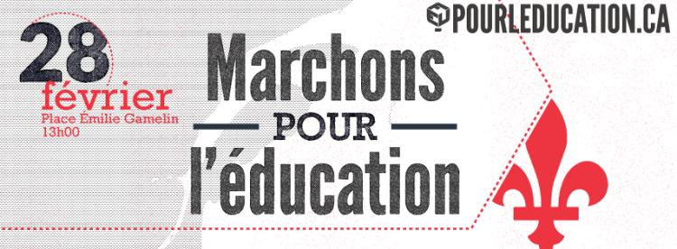 marchons pour l'éducation