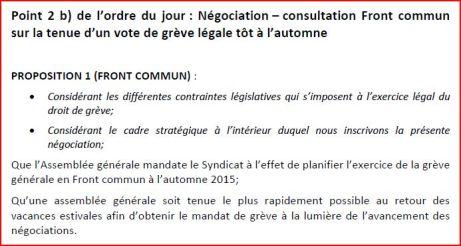 proposition Front commun