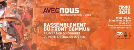 rassemblement 14 juin congrès PLQ