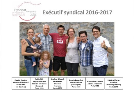 Photo exécutif 2016-2017