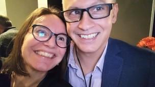 Judith Trudeau et Yves de Repentigny, vice-président du regroupement Cégep