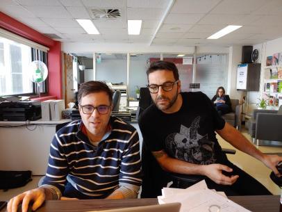 Denis et Jo au travail